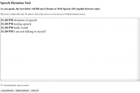 speech screenshot